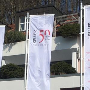 W. KELLER AG Jubiläum 50 Jahre, Garderobenausstattung, Leitsysteme, Beschriftungssysteme, Messebau, Ausstellungsbau, System für den Ladenbau