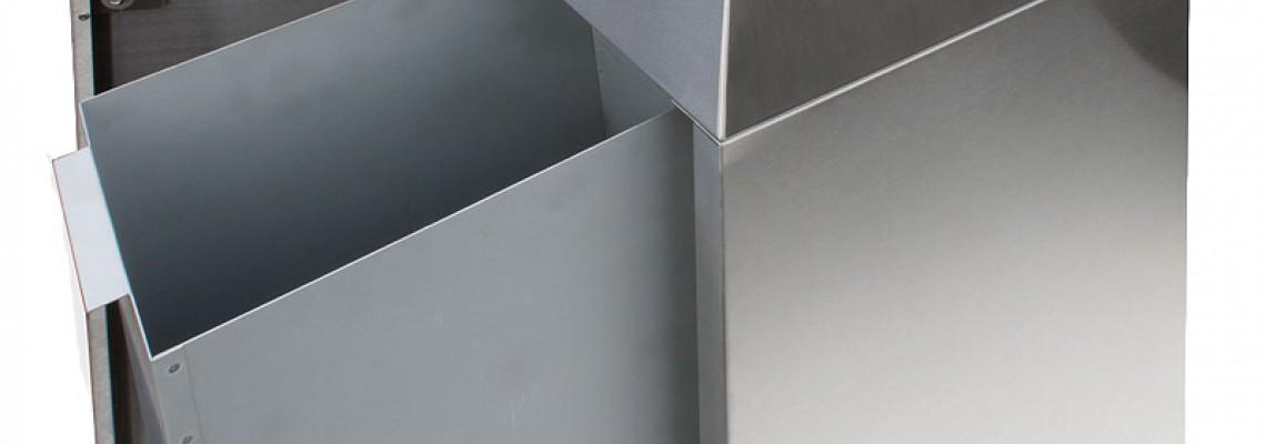Abfallbehälter Ascher Abfall-Trennsysteme INOX-line