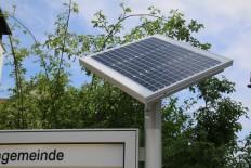 SOLAR-Panel für Informationskasten, SOLAR-Anlage für Plakatvitrinen