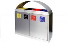 Ascher- & Abfallbehälter, Abfall-Trennsystem INOX-line