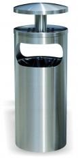 Ascher-Abfallbehälter 355 INOX-line mit Regendach