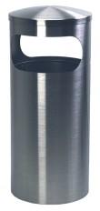 Ascher-Abfallbehälter 355 INOX-line aus Edelstahl, für den Innenbereich