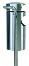 Ascher-Abfallbehälter 305 INOX-line, für den Aussenbereich