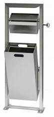 Ascher- & Abfallbehälter, Raucherstation mit Regendach, Ascher mit Abfallbehälter rechteckig