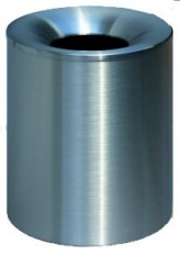Sicherheits-Abfallbehälter 340+450 INOX-line aus Edelstahl