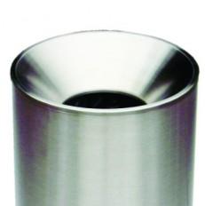 Sicherheits-Abfallbehälter 340+450 INOX-line aus Edelstahl,mit Löschkopf