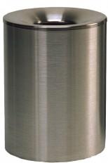Sicherheits-Papier-Abfallbehälter 200+255INOX-line aus Edelstahl