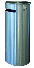 Sicherheits-Abfallbehälter 255 INOX-line aus Edelstahl