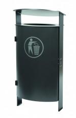 Ascher- & Abfallbehälter, Stand-Abfallbehälter aus Stahl für den Innen- oder Aussenbereich