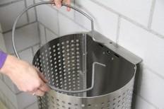 Wand-Abfallbehälter INOX-line für Wandmontage, Anwendung