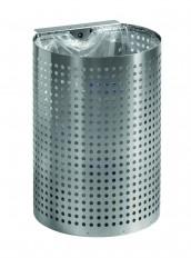Wand-Abfallbehälter INOX-line für Wandmontage