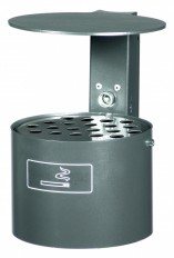 Ascher- & Abfallbehälter, Wandascher aus Stahl oder Edelstahl für den Aussenbereich