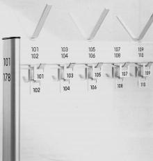 Garderobennummerierung