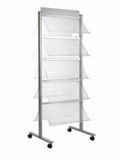 Standmobiliar Garderoben Ausstellungssysteme Prospektständer ALU-rond