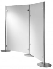 Standmobiliar Garderoben Ausstellungssysteme Trennwand-System INOX-line