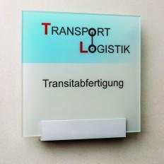Beschriftung, Signaletik, Orientierungssystem FARO Türschild
