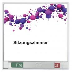 Beschriftung, Signaletik, Leit- und Orientierungssystem MAILAND, Türschild Frei-Besetzt aus Aluminium