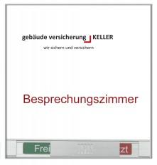 Beschriftung, Signaletik, Orientierungssystem VERONA, Türschild Frei - Besetzt, aus Aluminium
