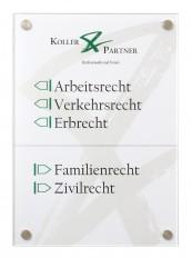 Beschriftung, Signaletik, Orientierungssystem WIEN Wandschild aus Acrylglas