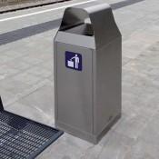 Abfall-Trennsystem mit Regenschutz aus Edelstahl INOX-line