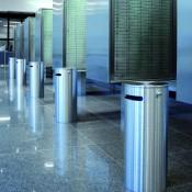 Ascher- & Abfallbehälter, Sicherheits-Abfallbehälter aus Edelstahl für den Innenbereich