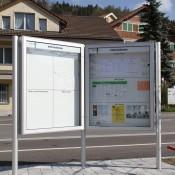 Mitteilungskasten, Schaukasten, Informationsvitrinen CITY-line für den Aussenbereich