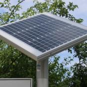 Solar-Panel und LED-Beleuchtung für Mitteilungskasten CITY-line