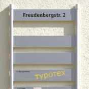 Beschriftung Signaletik, Wand-Schilderträger-System INFO-line