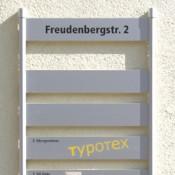 Signaletik, Wand-Schilderträger-System INFO-line