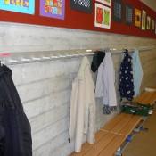 Wandgarderobe ALU-line mit Wandsitzbank