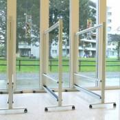 Garderoben, Modell ALU-line aus Aluminium