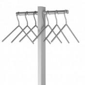 Garderobenständer INOX-line mit Schirmablage
