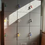 Garderobenschränke und Depotschränke aus Stahl