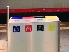 Abfall-Trennsystem aus Edelstahl INOX-line
