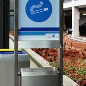 Ascher- & Abfallbehälter rechteckig INOX-line für den Aussenbereich