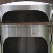 Ascher-Abfallbehälter INOX-line für den Aussenbereich