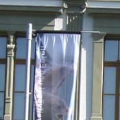 KELLER Fahnenmasten alfa ZA 75, aus Aluminium, mit Ausleger