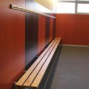 Sitzbank und Wandgarderobe ALU-line