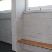 Wandgarderoben mit Sitzbank ALU-rond
