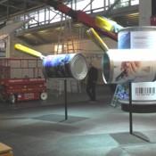 Messebau, Karton-Dekorohre mit System, Objekt SLS