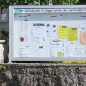 Schaukasten, Mitteilungskasten, Informationsvitrine CITY-line für den Aussenbereich