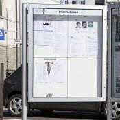 Schaukasten, Informationsvitrine, Mitteilungskasten CITY-line 210e, doppelseitig