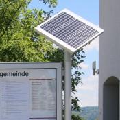 Schaukasten CITY-line, Solar-Panel für Mitteilungskasten, LED-Beleuchtung mit Solar-Panel für Informationsvitrine