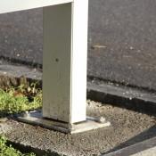 Stelen, Pylone für den Aussenbereich, Stele QUADRO 120 einseitig