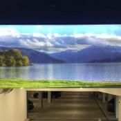 Werbe- & Spanntuchrahmen ALU-tf mit LED Kühlprofil CC85 für den Aussenbereich