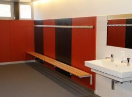 Garderoben ALU-line mit Wandgarderobe und Sitzbank