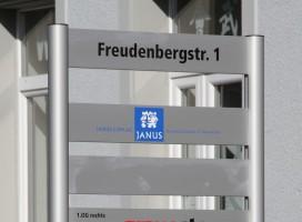 Beschriftung, Hinweisschild ALU-info, Schildersysteme, Mastensysteme für den Freiraum