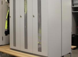 Garderobenschrank, Depotschrank FERRO-line aus geschweisstem Stahlblech